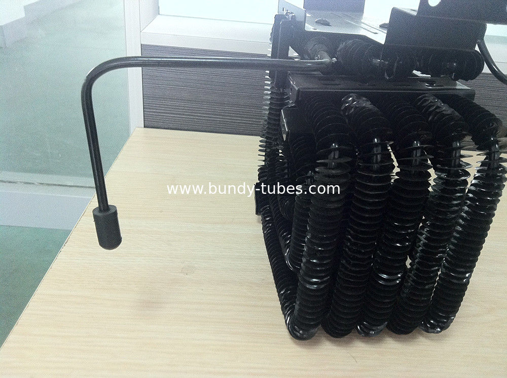 Black Wire Tube Freezer Condenser , Coil And Condenser For Refrigerator Part