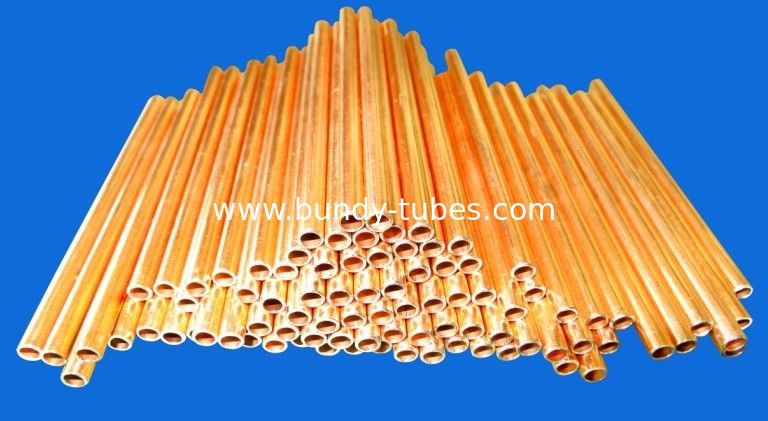 4.76mm Low Carbon Copper Coated Bundy Tube For Freezer Cooling System
