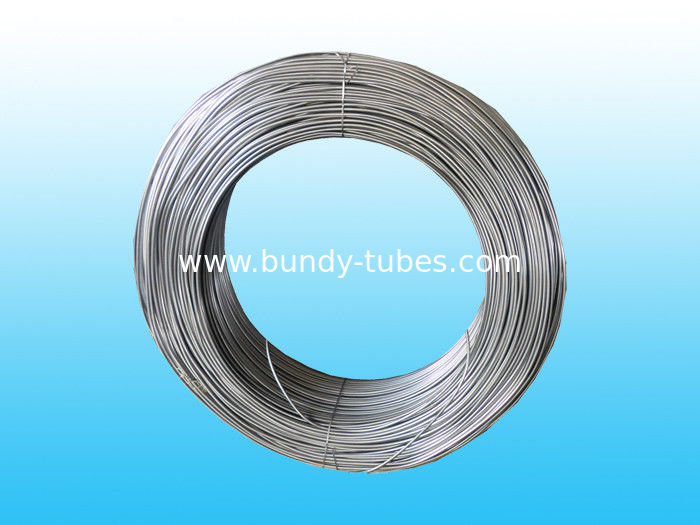 Round Plain Steel Bundy Tube / Light Pipe For Freezer 8 mm  X  0.65 mm