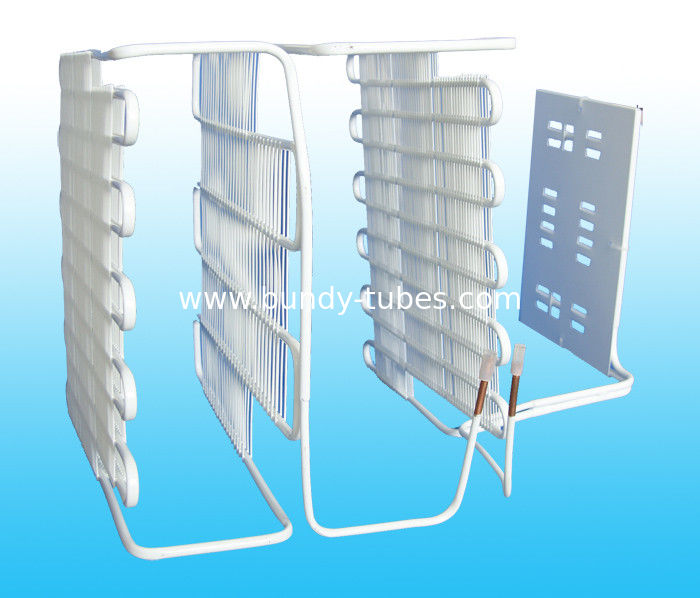0.65mm , 0.7mm Electric Refrigeration Evaporators , Wire On Tube